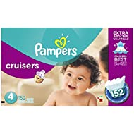 Pampers Cruisers Diapers Size 4 (22–37 lb), 152 Count