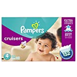 Pampers Cruisers is the first and only diaper that has Extra Absorb Channels* to help distribute wetness evenly, so it doesn't sag like ordinary diapers** and they stay dry for up to 12 hours. Our unique 3-way fit adapts at the waist, legs, a...