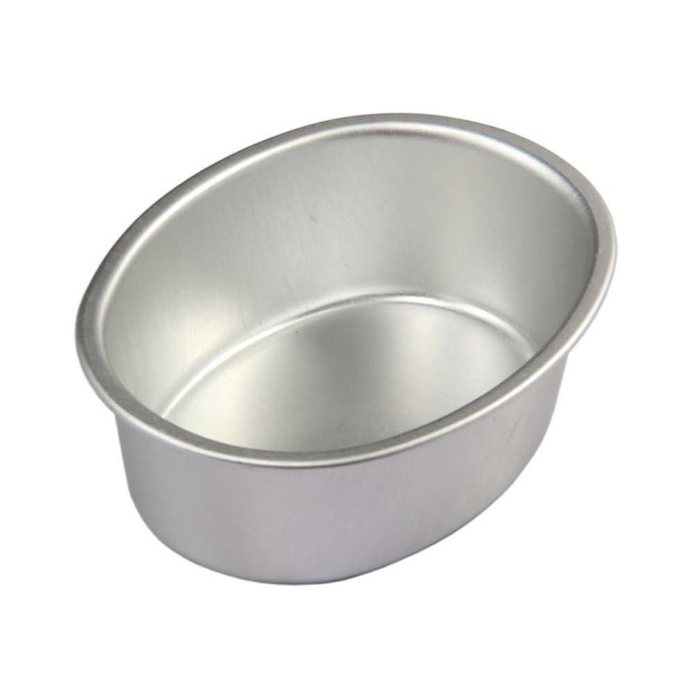 besica ovalado de aluminio anodizado tarta de queso molde, Mini Pudding de tarta Pan Set de 15 piezas: Amazon.es: Hogar
