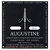 Augustine AUGBLK-6E Coated 80/20 Bronze Classical Guitar Strings, Light