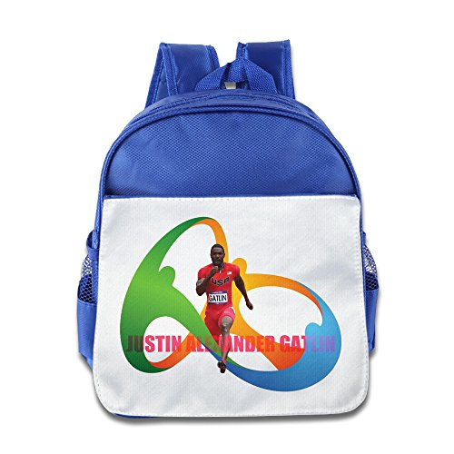 Price comparison product image JXMD Custom Cool Justin Alexander Gatlin Meter Dash Kids Children School Bagpack For 1-6 Years Old RoyalBlue