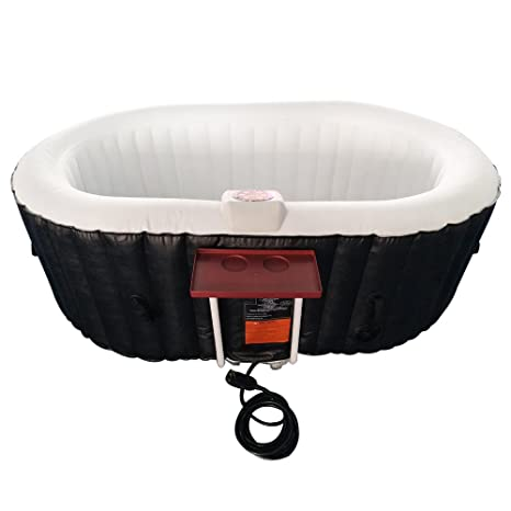 Amazon.com: ALEKO HTIO2BKW - Spa hinchable ovalado con ...