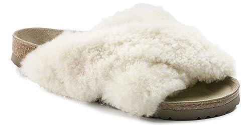 996a79c5854 Papillio Birkenstock Daytona Fur Narrow in Shearling Off-White  (Art 1011902) - 36  Amazon.co.uk  Shoes   Bags