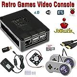 RetroBox - Raspberry Pi 3 Based Retro Game Console, RetroPie 32GB Edition with heatsinks and Cooling Fan Installed