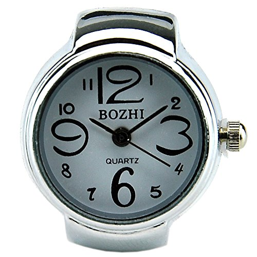 Fashion White Arabic Numbers Quartz Finger Ring Watch with Gift Box by BOZHI