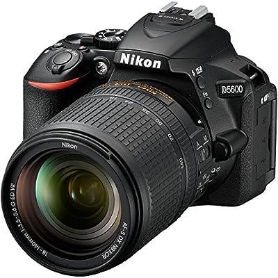 Nikon D5600 Wi-Fi Digital SLR Camera & 18-140mm VR DX AF-S Lens + 64GB Card + Case + Flash + Battery & Charger + Grip + Tripod + Filters + Remote Kit by Nikon