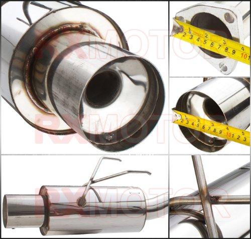01-05 CIVIC EX 2//4 DR HIGH PERFORMANCE MUFFLER CATBACK EXHAUST SYSTEM BOLT ON