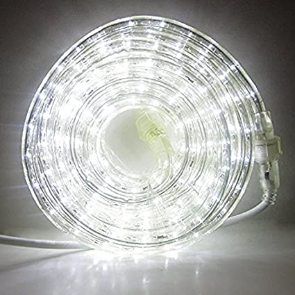 24 ft plugin rope lights 287 cool white leds connectable 24 ft plugin rope lights 287 cool white leds connectable dimmable mozeypictures Gallery