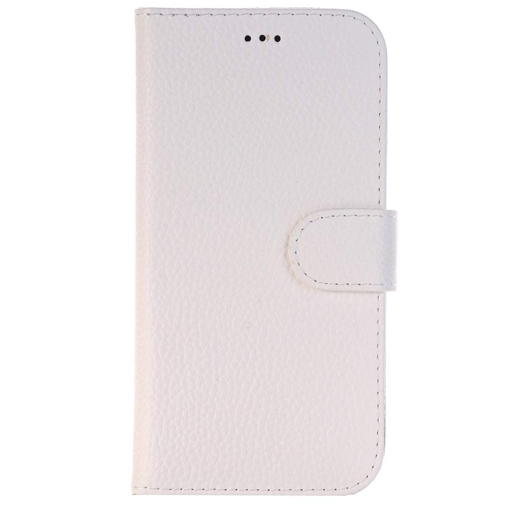 Sammid Galaxy S8 Case,PU Leather Flip Protective Case Cover with Card Slots and Stand Function for Galaxy S8 - White