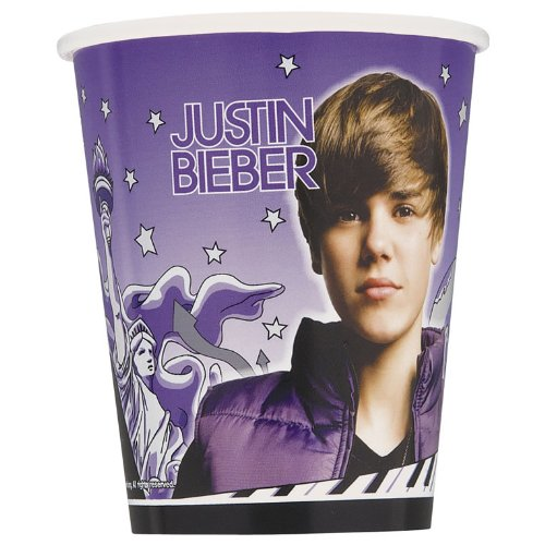 ShindigZ 9 oz Cups 8-Pack - Justin Bieber (Justin Bieber Supplies compare prices)