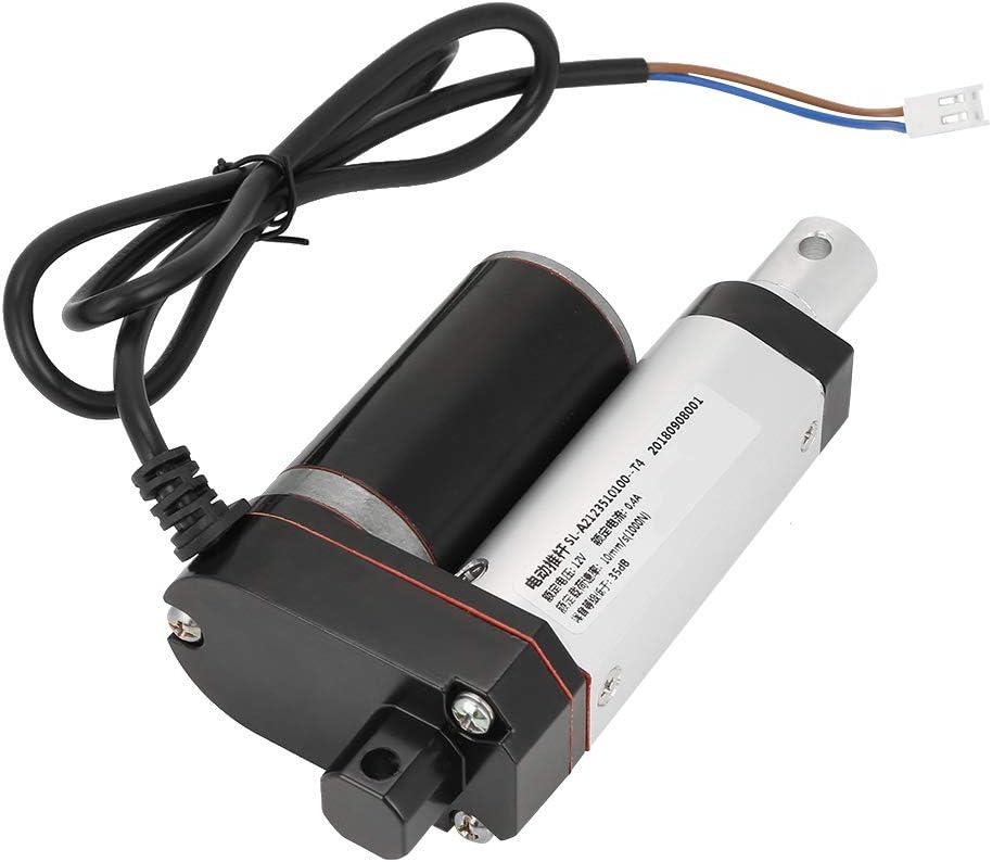 Actuador Lineal de 12 VCC, 10 mm/s 35 mm Carrera de Alto Rendimiento 1000 N Línea Recta Actuador Lineal eléctrico para Cama médica eléctrica, sofá eléctrico, Barra de elevación eléctrica de Soporte