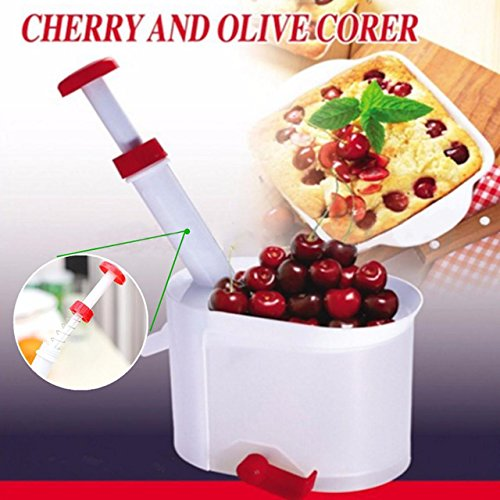 (Cherry Pitter-NACOLA Cherry Olive Pits Pitter Stone Seed Remover Machine Cherry Corer Container)