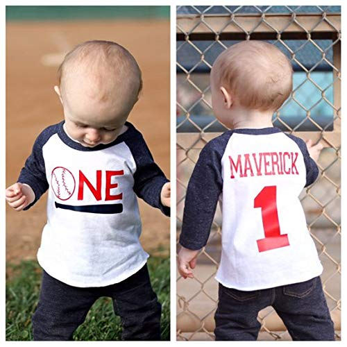 Amazon Boys 1st Birthday Baseball Shirt Cake Smash Themed Party Sports Vintage Handmade