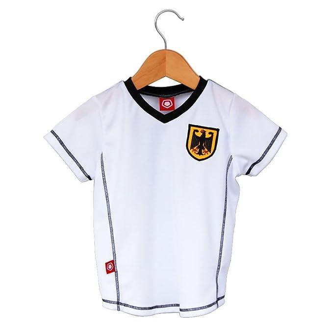 Amazon.com: Alemania fútbol bebé Home Jersey: Clothing
