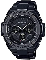 Casio Mens G SHOCK Quartz Stainless Steel Casual Watch, Color:Black (Model: GST-S110BD-1BCR)