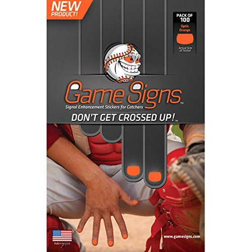 Game Signs Catcher Signal Enhancement Stickers, Optic Orange Catcher Game