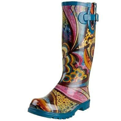 Nomad Women's Yippy Rain Boot,Turquoise Monet,6 M US