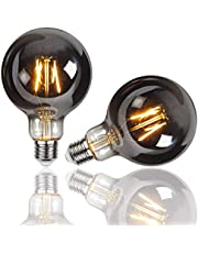 Gorssen Vintage Edison-lamp, Vintage ST64 E27-gloeidraad Gloeilamp 2W Art Deco Retro Edison-gloeilamp 2200K Warm wit - 2 stuks
