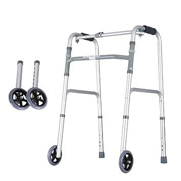 Walker Plegable Movilidad Ligera Asiento con Ruedas Walker Adultos ...