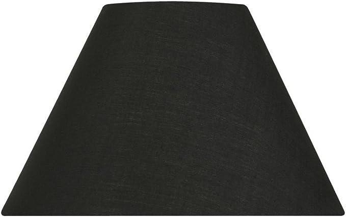 Imagen deOaks Lighting S501/10 BK - Pantalla con forma de campana para lámpara (forro de algodón, 35,5 cm), color negro