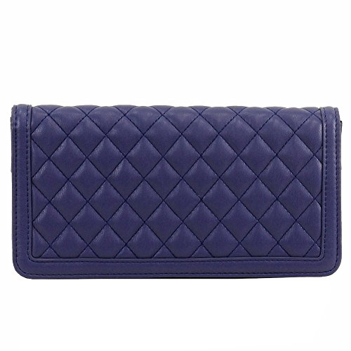 Love Moschino Women's Blue Quilted Leather Clutch Shoulder Handbag by Love Moschino (Image #3)