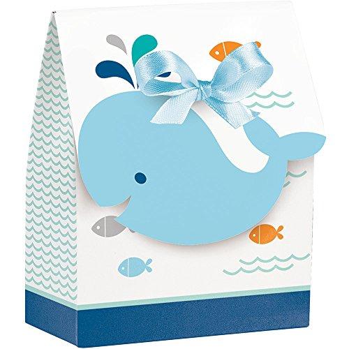 (Creative Converting 324420 Paper Ribbon Lil' Spout Blue Favor Bag 4 x 3.5 x)