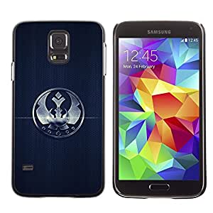 Stuss Case / Funda Carcasa protectora - Crown Sign Badge Mark Simple Black Emblem - Samsung Galaxy S5 SM-G900