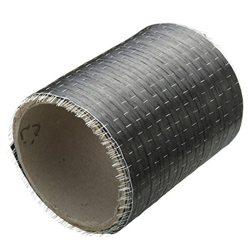 Raza New 12K 200gsm Real Carbon Fiber Fabric Cloth Tape UNI-Directional Weave 4 x 72inch Apparel Sewing Roll On Tube