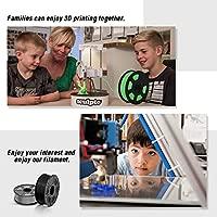 Filamento de impresora 3D ABS, filamento de ABS de 1.75 mm, 1 kg (2.2 lb), Negro