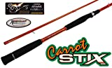 COLLAPSIBLE 2 Piece Carrot Stix SPINNING Wild Wild Orange Giant Size Salmon Steelhead Fishing Rod (10' 6