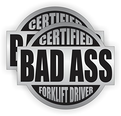 Bad Ass Forklift Driver Hard Hat Sticker / Helmet Decal Label Lunch Tool Box