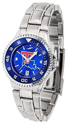 Louisiana Sport Bulldogs Tech Watch (Louisiana Tech Bulldogs Competitor Steel AnoChrome Women's Watch - Color Bezel)