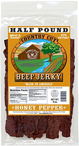 Jerky Black Pepper (Buffalo Bills 8oz Honey Pepper Country Cut Beef Jerky Pack (made w/ natural honey & black pepper))