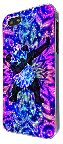 003334 - Panda DAB Dance Move Rap RnB Design iphone 5 5S / iphone SE 2016 Coque Fashion Trend Case Coque Protection Cover plastique et métal - Clear