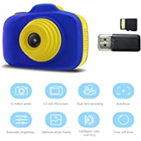 Kids Mini Digital Cameras Shockproof Digital Camere with 2.3 Inch IPS Screen and 16GB Memory Card, Perfect Kids Gifts For Birthday New Year Festival