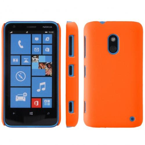 handy-point COBI Hülle aus gummiertem Kunststoff Kunststoffhülle Hülle Schale Schutzhülle Handyhülle Handyschale Hardcase für Nokia Lumia 620 Orange