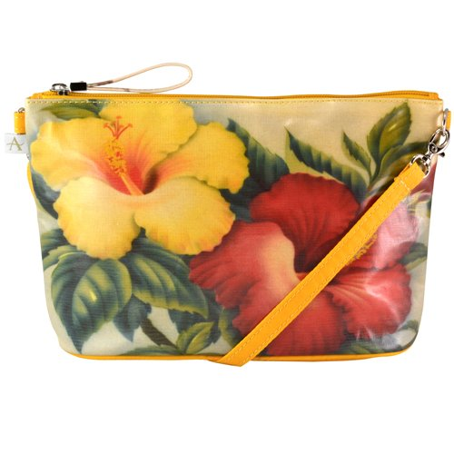 Alicia Klein - Island Collection - ANNA - Mini Crossbody Bag - HIBISCUS