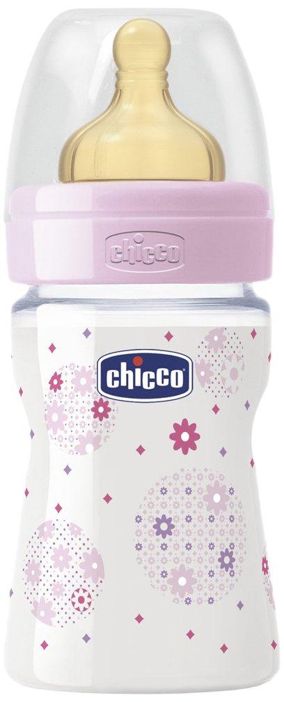 150 ml Rosa Chicco Well-Being Fl/äschchen aus Latex