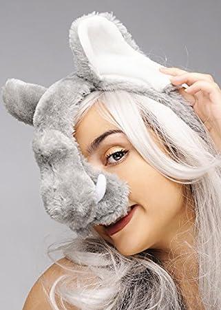 Máscara de elefante en diadema
