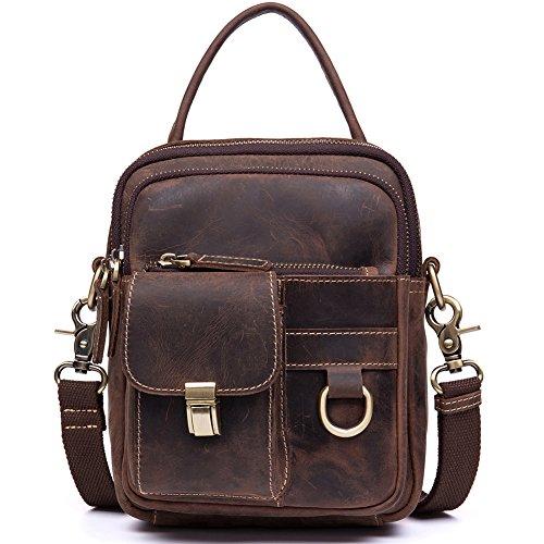 BIG SALE! Man Purse Small Handbag Best Hunter Leather Vintage Tool Crossbody Bag Gifts for Men- WESTBRONCO by WESTBRONCO