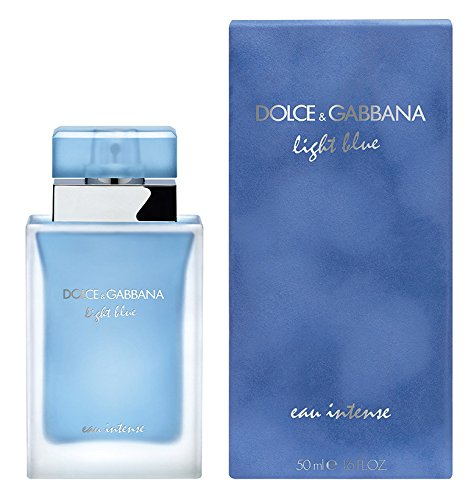 Dolce Gabbana Lotions (D & G Light Blue Eau Intense By Dolce & Gabbana For Women Eau De Parfum Spray 1.6 oz)