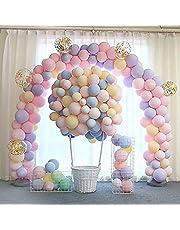 100 قطعة بالونات للحفلات 10 بوصة، بالونات لاتكس وبالونات هيليوم لتزيين اعياد الميلاد وحفلات الزفاف والتخرج والكريسماس والسبوع - متعددة الالوان