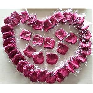 CO-RODE Wedding Decoration Silk Rose Petals Artificial Flower Pack of 4000 Burgundy 4