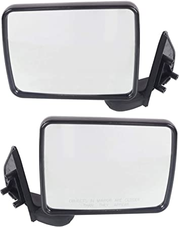 BRAND NEW MIRROR-GLASS~87-93 JEEP Wrangler LEFT DRIVER SIDE~DIRECT FIT~MANUAL