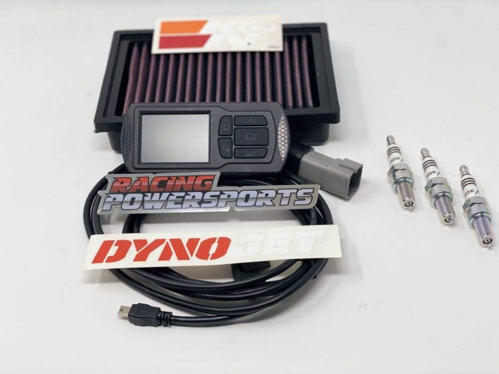 Two Brothers Exh NGK compatible with Can-Am Ryker Rally + KN Filter RPS PowerKit 3 Dynojet PV3