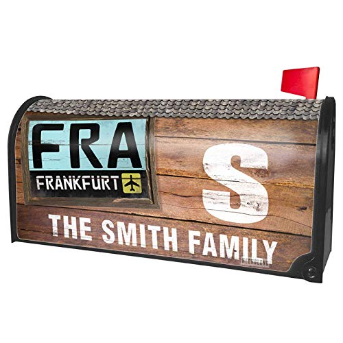 NEONBLOND Custom Mailbox Cover Airport Code FRA/Frankfurt Country: Germany -