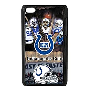 Sytlish Designed NFL Indianapolis Colts Team Logo With Helmet Hard Snap-On Protective Skins For Ipod Touch 4