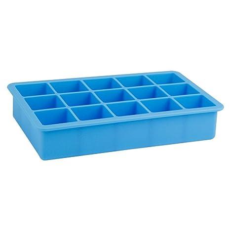 Wa molde de hielo silicona moldes de cubitos de hielo 15 compartimentos molde de