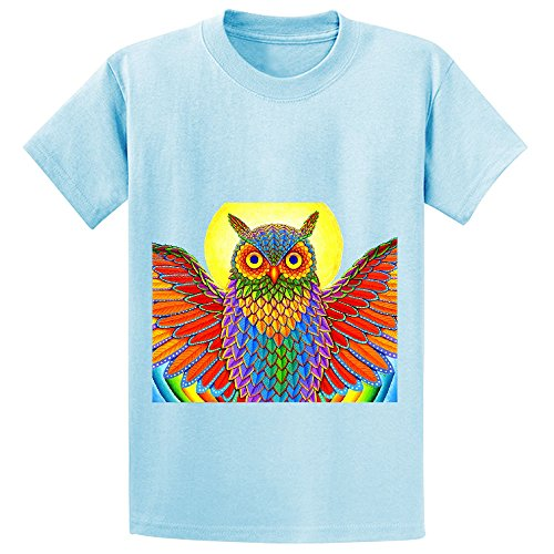 mcol-psychedelic-rainbow-owl-unisex-crew-neck-short-sleeve-t-shirts-l-blue