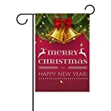 Cheap U LIFE Merry Christmas Tree Bell Deer Elk Snowflakes Garden Yard Flag Banner for Outside House Flower Pot Double Side Print 40 x 28 or 12 x 18 Inch